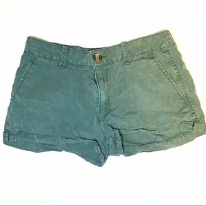 American Eagle Green Shorts Size 0 super soft!